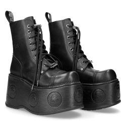 Black Nomada New Rock Newmili Platform Ankle Boots