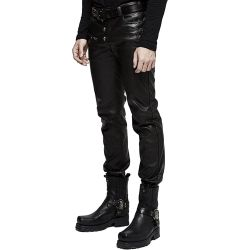 Black Synthetic Leather 'Nergal' Pants