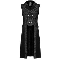 Long Gilet 'Baratheon' en Velours Noir