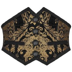 Black and Gold 'Lannister' Mens Corset Girdle