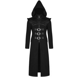 Manteau Noir 'Assassin's Creed' à Capuche Pointue
