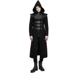 Black 'Assassin's Creed' Coat with Pointed Hood