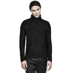 Black High Collar 'Phantom' Sweater