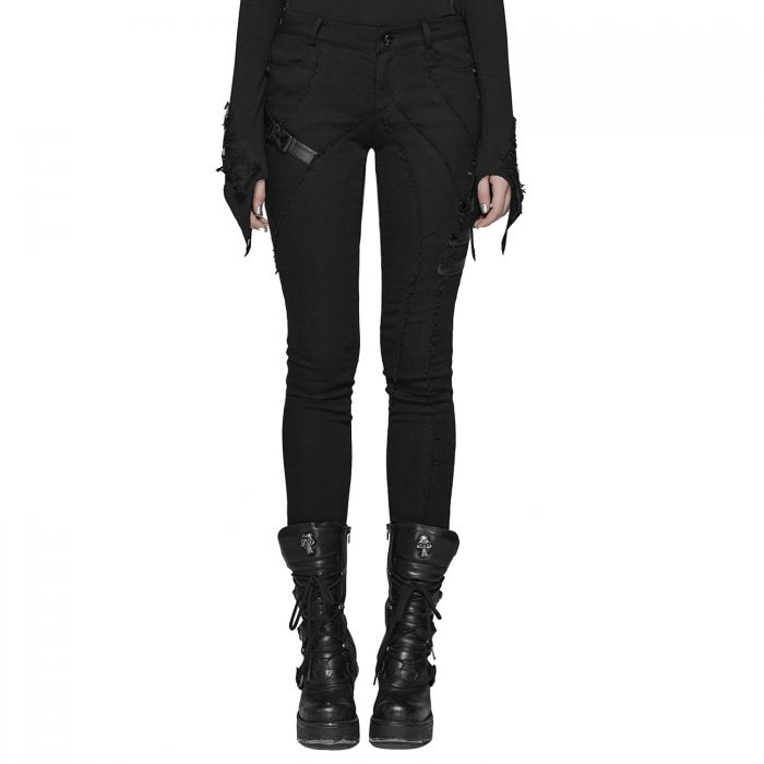 Black 'Manticora' Cyber Skinny Pants