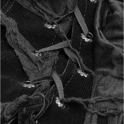 Black 'Destruction Unit' Collar Scarf