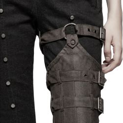 Black and Brown 'Ex Machina' Pants