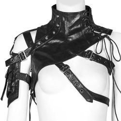 Black 'Girl Stalker' Gothic Shoulder Harness