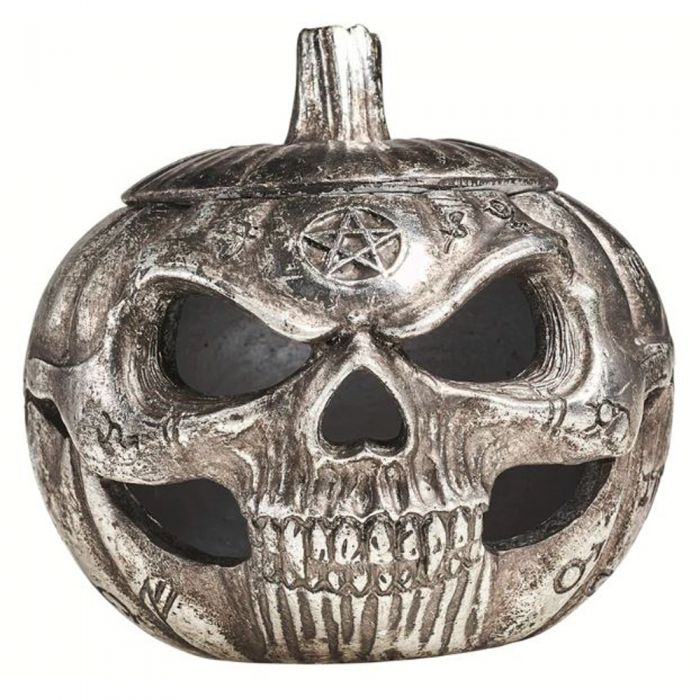 Pumpkin Skull Pot