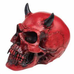 Crâne en Résine 'Crimson Demon Skull'