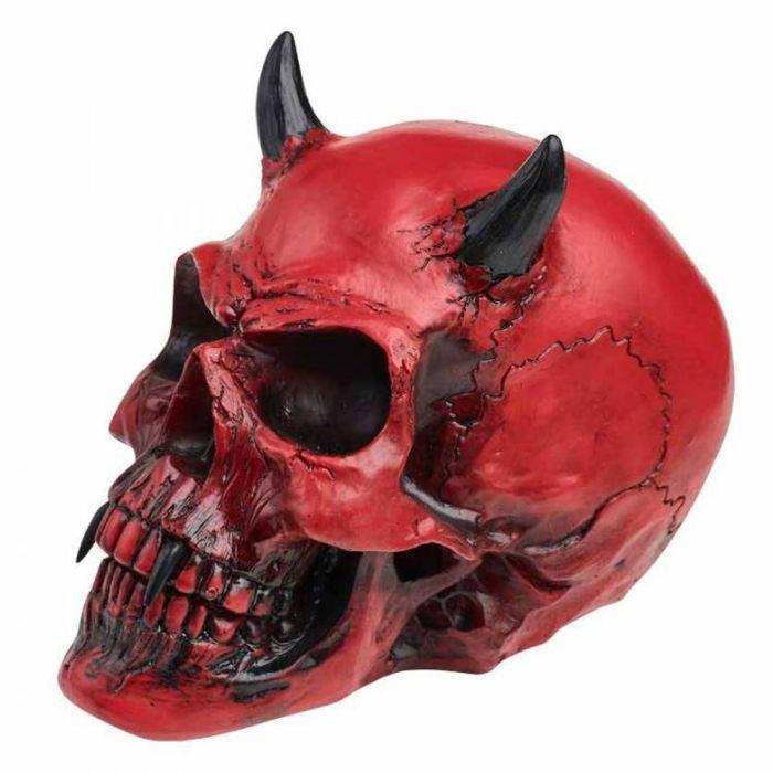 Resine 'Crimson Demon Skull'