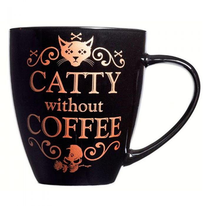 'Catty Without Coffee' Mug