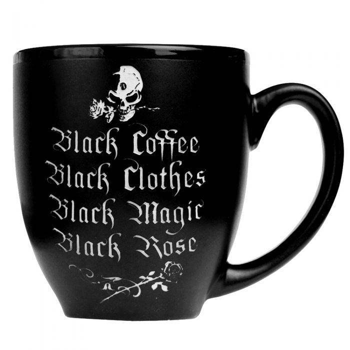 Mug 'Black Coffee, Black Rose'
