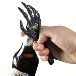 Black Skeletal Hand Bottle Opener