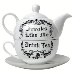 Service à Thé 'Freaks Like Me Drink Tea'