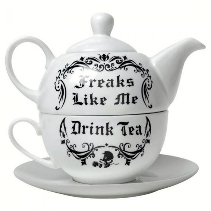 'Freaks Like Me Drink Tea' Tea Set