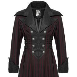 Black and Red 'Viserion' Victorian Coat