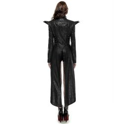 Black 'Blitzkrieg' Sexy Gothic Long Coat