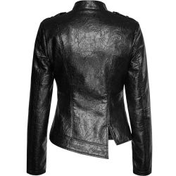 Black Vegan Leather 'Skinner' Jacket