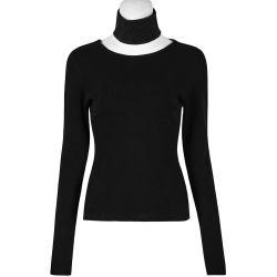 Black Long Sleeves 'Arcadia' Top with Choker