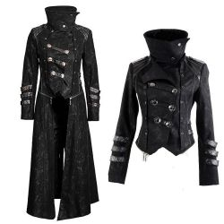 Black Hooded 'Scorpio' Women's Jacket-Coat