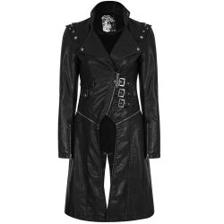 Black 'Nightrider' Jacket-Coat