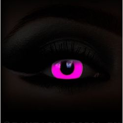 Glow in the Dark 'Pink UV' Contact Lenses