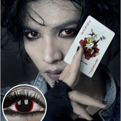 Black and Red 'Hellraiser' Contact Lenses