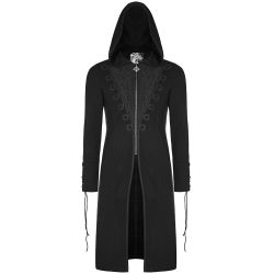 Black 'Narciss' Hooded Long Jacket