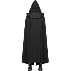 Black 'Cagliostro' Long Cape