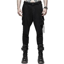 Pantalon Post-Apocalyptique 'Manticore' Noir