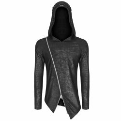 Assymetric 'Black Engine' Hooded Sweater