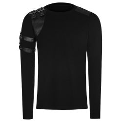 Black Long Sleeves 'The Guard' Sweater