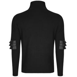 Black High Neck 'Moloch' Sweater