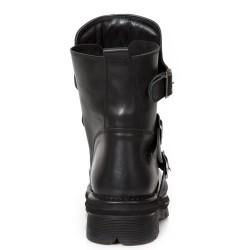 Black Nomada Leather New Rock Comfort-Light Ankle Boots