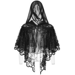 Black Lace 'Peony' Gothic Lolita Style Cape