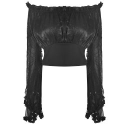 Top Gothic Lolita 'Black Dust' Noir