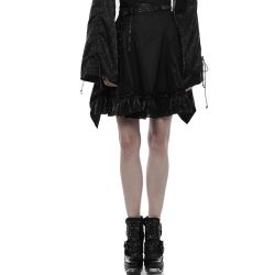 Black Short 'Mysticum' Skirt