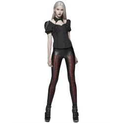 Black and Red 'Slasher' Leggings