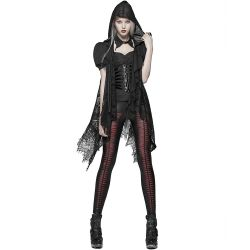 Gothic Lace 'Amuria' Hooded Shawl