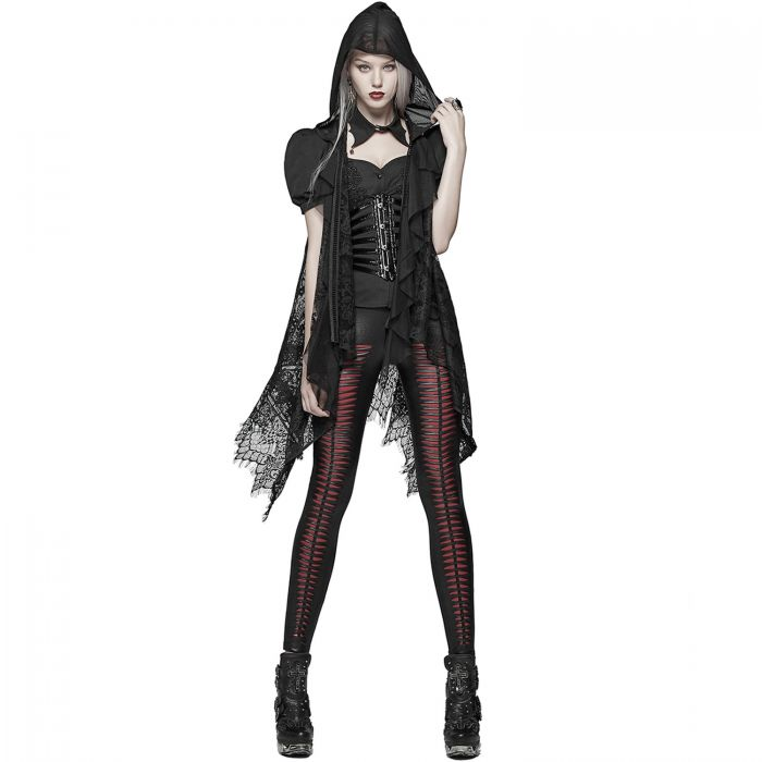 Gothic Lace 'Amuria' Hooded Shawl