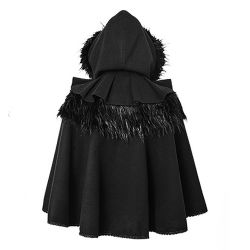 Black Gothic Lolita Style 'Dolly' Cape