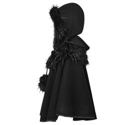 Cape Gothic Lolita 'Dolly' Noire