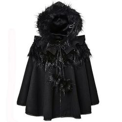 Gothic Lolita Style 'Dolly' Black Cape