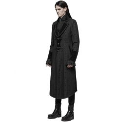 Black 'Grimm' Victorian Gothic Style Coat