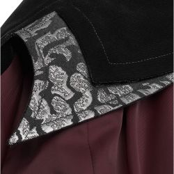 Black and Silver 'The Magician' Gothic Coat