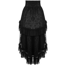 Black 'The Secret Garden' Asymmetric Gothic Lolita Skirt