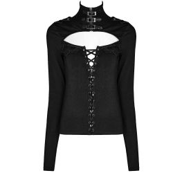 Black 'Control Freak' Top