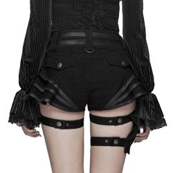Black Steampunk 'Maeve' Shorts