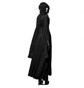 Black Hooded 'Theatre of Tragedy' Coat-Dress