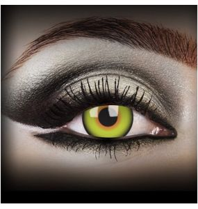 'MadHatter' lemon Yellow Contact Lenses
